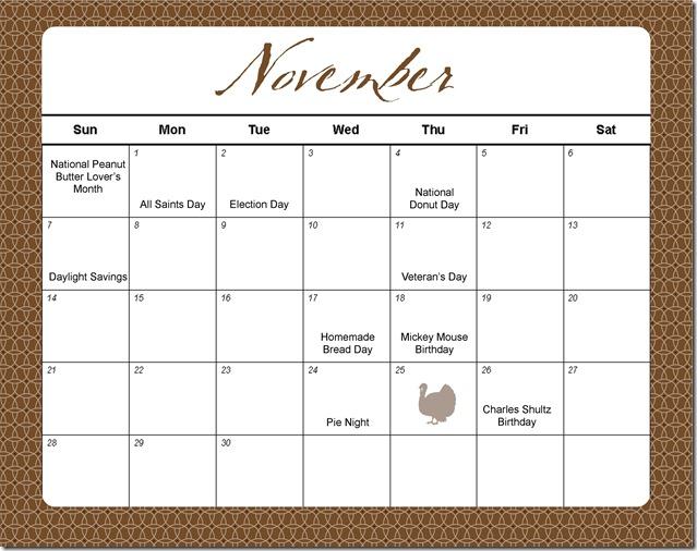 639 x 506 jpeg 84kB, November holidays and special events calendar ...